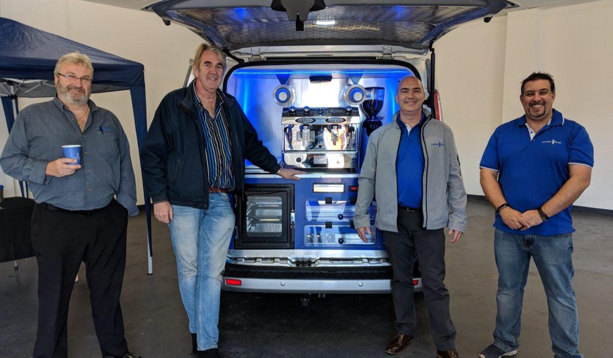 Coffee Blue Van and Team